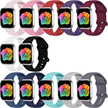 Sponsored Ad - Bravely klimbing Compatible with App le Watch Bands 42mm 44mm 45mm, Soft Silicone Sport Replacement Strap W...