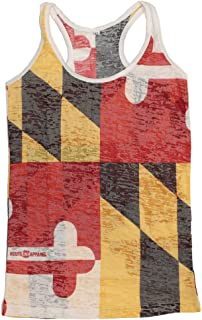   Vintage Maryland Flag Tank-Top for Women