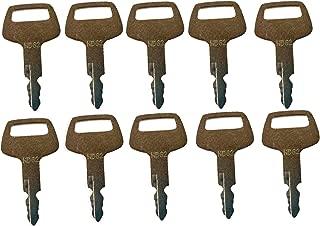 Mover Parts (10) Ignition Keys HD62 for Hyundai Nagano Sunward Thomas Hitachi Bobcat 41307-00007 Mini-Excavator 316