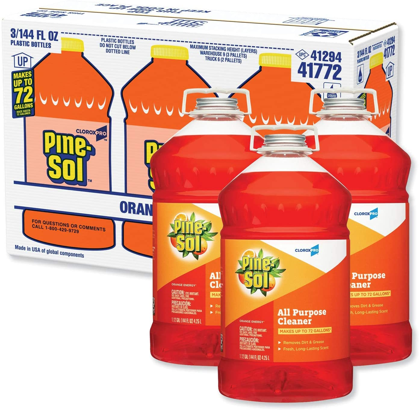 All-Purpose Cleaner Orange Energy 144 Carton oz New York Mall 1 year warranty Bottle 3