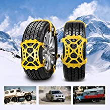 "SUPTEMPO Snow Chains, 6 Set Emergency Anti Slip Tire Chains with Upgrade TPU Car Snow Chain for Trucks Minivan Pickup SUV/ATV/UTV Winter Universal Tires 6.5""-10.8""(165mm-285mm)"