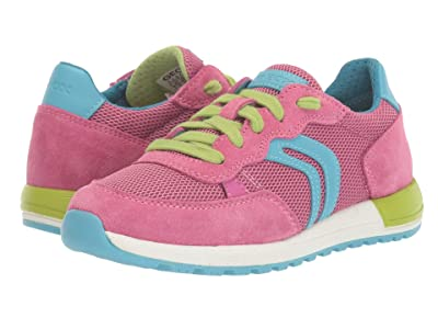 Geox Kids Alben 5 (Little Kid/Big Kid) (Light Blue/Fuchsia) Girl