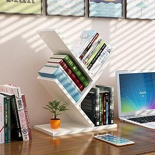 HYLR Escritorio de Madera Creativo estanterías pequeñas estantería de Archivo Estante de Libro, Organizador de Escritorio Book Holder Storage Bookshelf