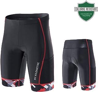 "Triathlon Shorts Mens 9"" | Easy Reach Leg Pockets | Chamois for Long-Distance Tri.."