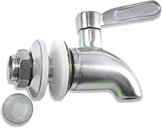 Beverage Dispenser Replacement Spigot with Screen Filter - Stainless Steel - Ice Tea, Kombucha, Lemonade - Also works with Ceramic Porcelain Crock and Berkey-type Water Filtration Systems