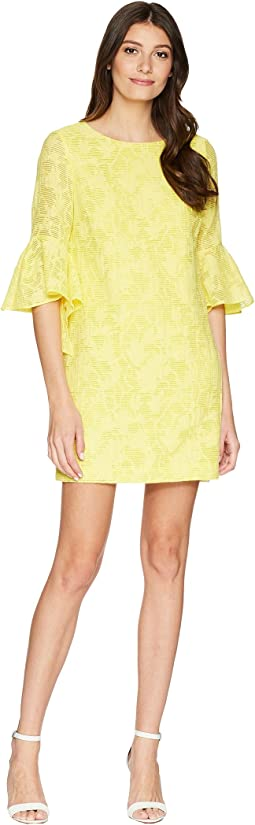 Badgley Mischka - Bell Sleeve Floral Print Dress