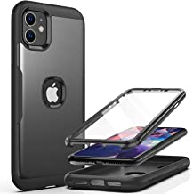 YOUMAKER Metallic Designed for iPhone 11 Case, Full Body Rugged with Built-in Screen Protector Heavy Duty Protection Slim ...