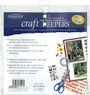 Generations Bulk Buy Craft Keepers Snap Closure Envelope Assorted Colors 12 inch x 12 inch 85590 (10-Pack)