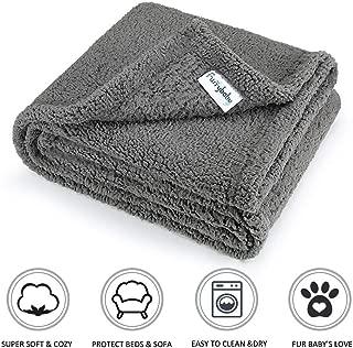 furrybaby Premium Fluffy Fleece Dog Blanket, Soft and...