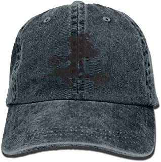Buecoutes Black Witch Vintage Cowboy Baseball Caps Trucker Hats