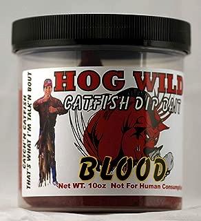 Magic Bait Catfish Hog Wild Chicken Blood Dip Bait, 10-Ounce, Red