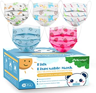 Kids Disposable Face Masks, Keangs Protective Breathable...