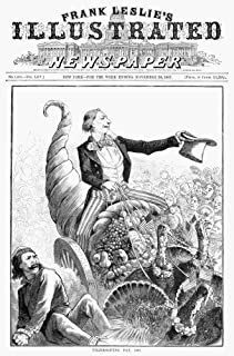 Thanksgiving Parade 1887Nuncle Sam Shoving Aside Anarchy Rides Triumphantly In A Cornucopia Wheeled By Commerce Cartoon Am...