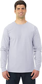Fruit of the Loom Adult 5 oz. HD CottonÖ Long-Sleeve T-Shirt-White