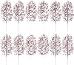 NICEXMAS 12 Stks Kerst Kunstmatige Bladeren Knipperende Bladeren Imitatie Foto Props Kerstversiering Bladeren