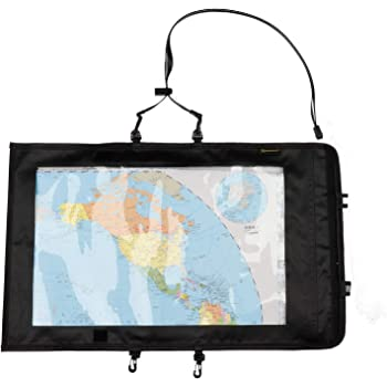 Foldable Waterproof Map Case Handle Transparent 30x30cm Cover Walking Hiking
