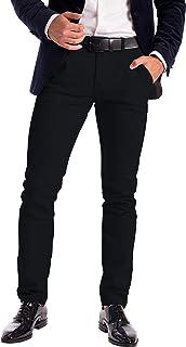 Mens Stretch Chino Trousers Designer Slim Fit Jeans Pant Cotton Spandex Bottom