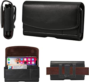 SZCINSEN for iPhone 11 Pro/XS/X Leather Belt Clip Pouch, Belt Holster Case Pouch for Samsung Galaxy s10e/S9/S8/S7/S6 Edge/S6. Wallet Case with Card Holder