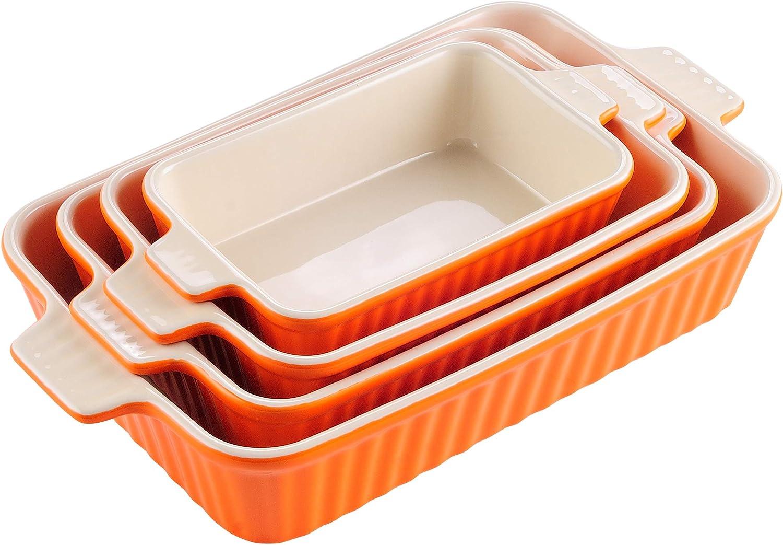 Max 59% OFF MALACASA Ceramic Baking Dish Max 78% OFF Rectangular Bak for Casserole