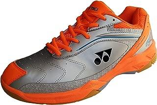 YONEX Silver/Orange Rubber Non-Marking Badminton Shoes -9 UK