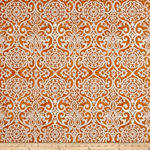 BRYANT INDUSTRIES Indoor/Outdoor Miranda Fabric by The Yard, Mango