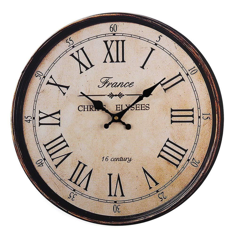 xuyuandass Relojes De Pared Vintage 40 Cm Madera Grande Arte