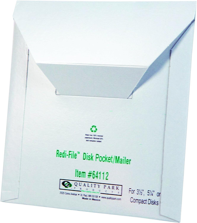 roti-File Disk Pocket Mailer, 6 x 5-7 8, Recycled, Weiß, 10 Pack B0017YUIZK | Elegante Und Stabile Verpackung