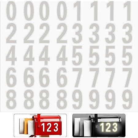 Choose 0-9 White Vinyl Numbers 3 inch Self Adhesive glossy waterproof stickers