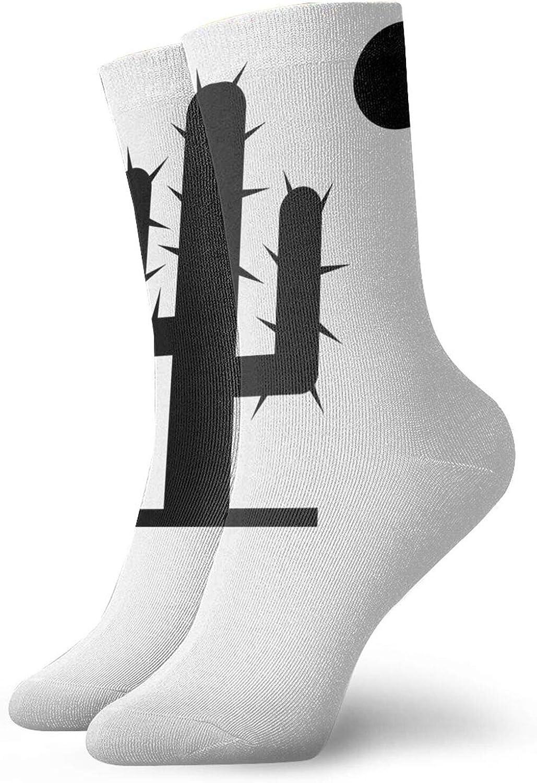 Cactus With Sun Short Socks Sports Cotton Socks Casual Socks 30cm