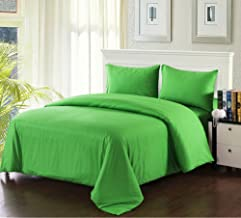 Tache Home Fashion 2-3PDUV-Green-CK Duvet Cover Set, California King, Green