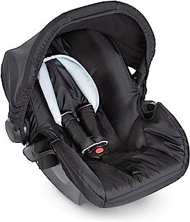 Hauck Zero Plus Babyschale, 0 , ECE Gruppen 0 ab Geburt bis 13 kg nutzbar, leicht, Seitenaufprallschutz, schwarz grau black