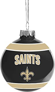 FOCO Glass Ball Ornament – Limited Edition Ornament – Represent The NFL and Show Your Team Spirit with Officially Licensed Holiday Fan Decorations