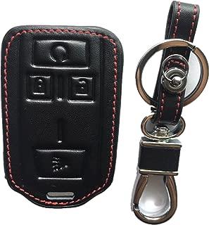 Rpkey Leather Keyless Entry Remote Control Key Fob Cover Case protector For Chevrolet Silverado 1500 2500 HD 3500 HD Colorado Tahoe Suburban Gmc Yukon Sierra 1500 Canyon M3N-32337100 13577770 22881480