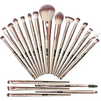 MAANGE Brochas de Maquillaje 20 Piezas Set de Brochas para Maquillaje Profesionales Brochas Faciales Maquillaje(Champán)
