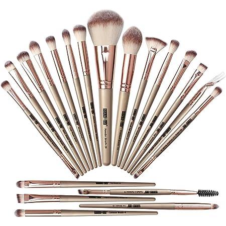 MAANGE-Brochas de Maquillaje 20 Piezas Set de Brochas para Maquillaje Profesionales Brochas Faciales Maquillaje(Champán)