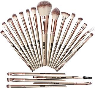 (Champagne) - Makeup Brush Set,20 Pcs Professional Makeup Brushes Foundation Eyeshadow Blush Brush,Travel Kabuki Blending ...