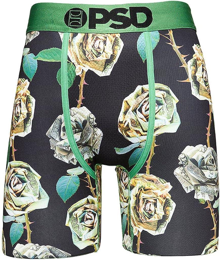 PSD Underwear Men's 100 Roses Bouquet Printed Boxer Brief