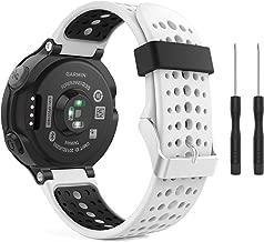MoKo Garmin Forerunner 235 Watch Band, Soft Silicone Replacement Watch Band for Garmin Forerunner 235/235 Lite / 220/230 / 620/630 / 735XT - White & Black