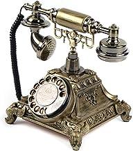 Vintage Rotary Dial Desk Phone Telephone Gold Retro Office School Telephone Old Vintage Rotary Dial Phone Handset Turntabl... photo