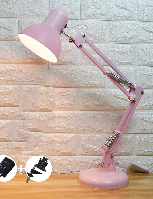 LED-Schreibtischlampe, Study Eye-Plug-in-Lerntischlampe, Schlafzimmerbett mit Clip-Lesetischlampe