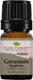 Plant Therapy Geranium Egyptian Essential Oil 100% Pure, Undiluted, Natural Aromatherapy, Therapeutic Grade 5 mL (1/6 oz)