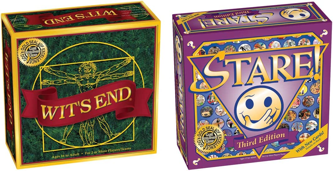 Wit's End + Stare = Inventory cleanup selling sale Challenging Adults for Game Bundle 100% quality warranty an Board