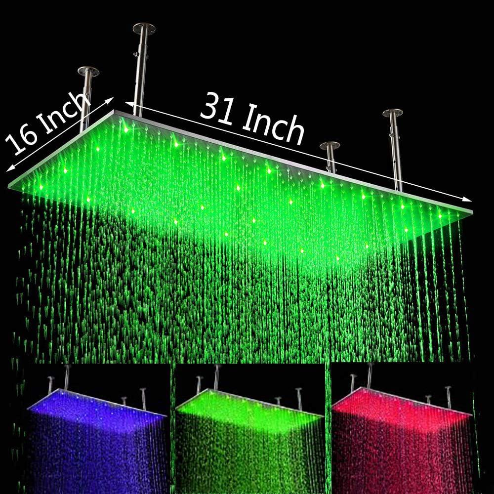 Cascada Luxury 16 x 31 Inch S Recangular Bathroom Large In a popularity Rainfall Max 69% OFF