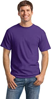 Hanes Men's Comfortsoft 6 Pack Crew Neck Tee - Purple - XL