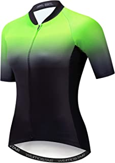 Xinzechen Women Summer Multicolor Short-Sleeve Cycling Jerseys Top