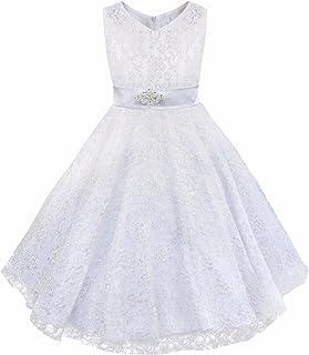 efe0b1d508668 TiaoBug Fille Enfant Robe de Princesse   Performance   Baptême ---en  Mousseline en