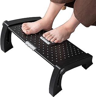 VIVOUNITY Adjustable Under Desk Footrest - Ergonomic Foot Rest with Massage Texture and Roller, Foot Stool with 6 Adjustab...