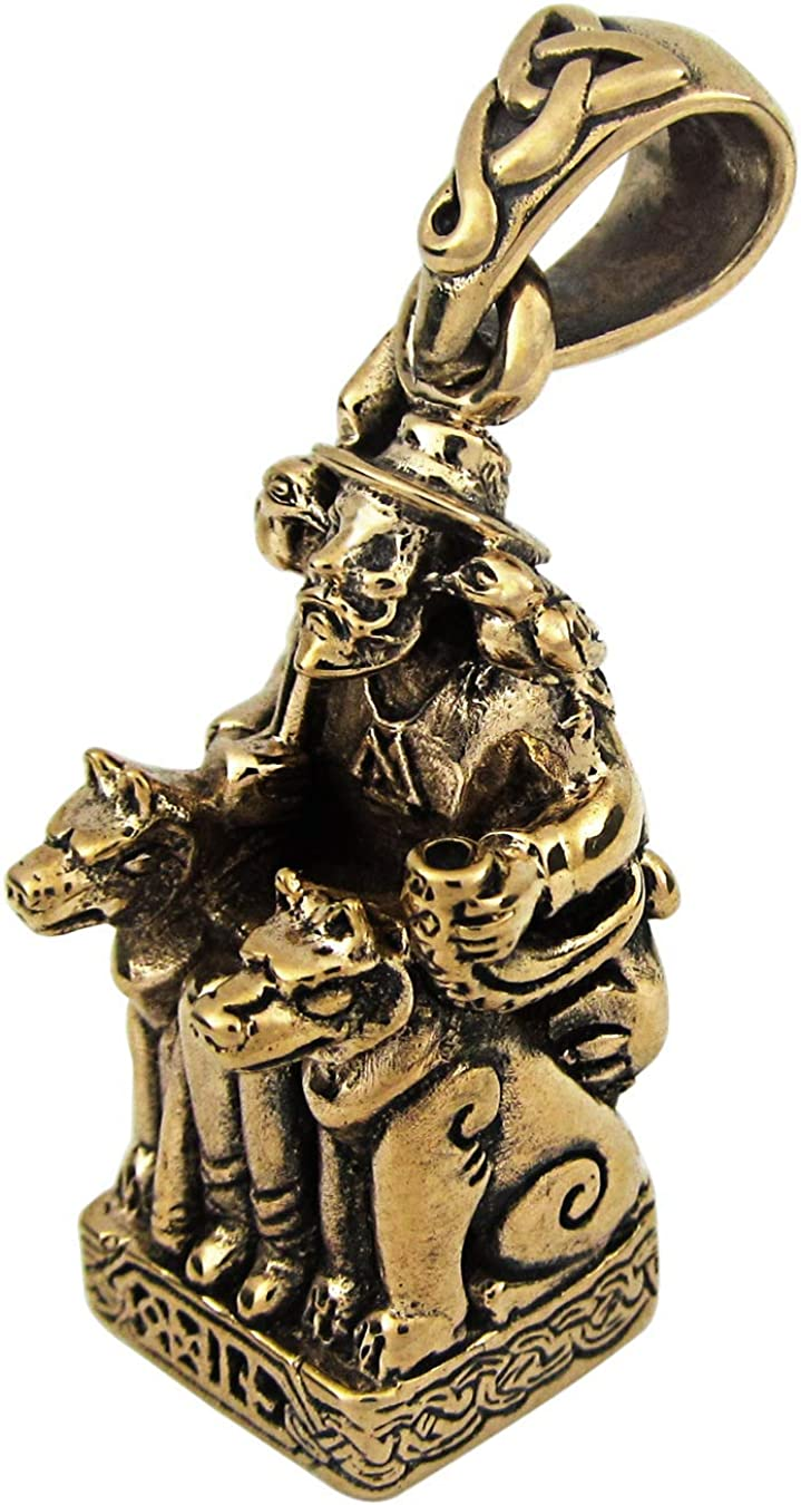 Dryad Design Bronze Norse Viking God Odin The All Father Pendant