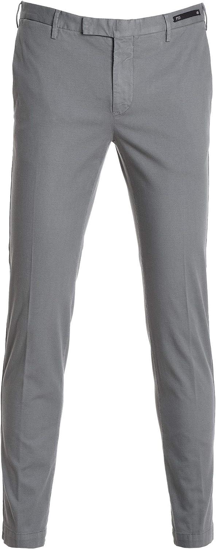 PT01 Men's KTZEZ10SPRNT830333 Grey Cotton Pants