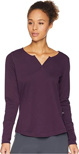 Daisy Chain™ Split Neck Long Sleeve Shirt
